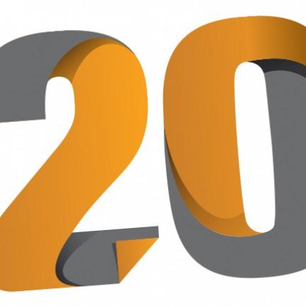 Selo comemorativo de 20 anos