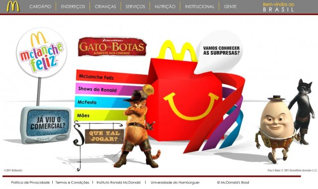 O McDonald's foi multado em R$ 3,192 milhões pelo Procon. Dar brindes como forma de induzir as crianças a hábitos não saudáveis é considerado propaganda abusiva.