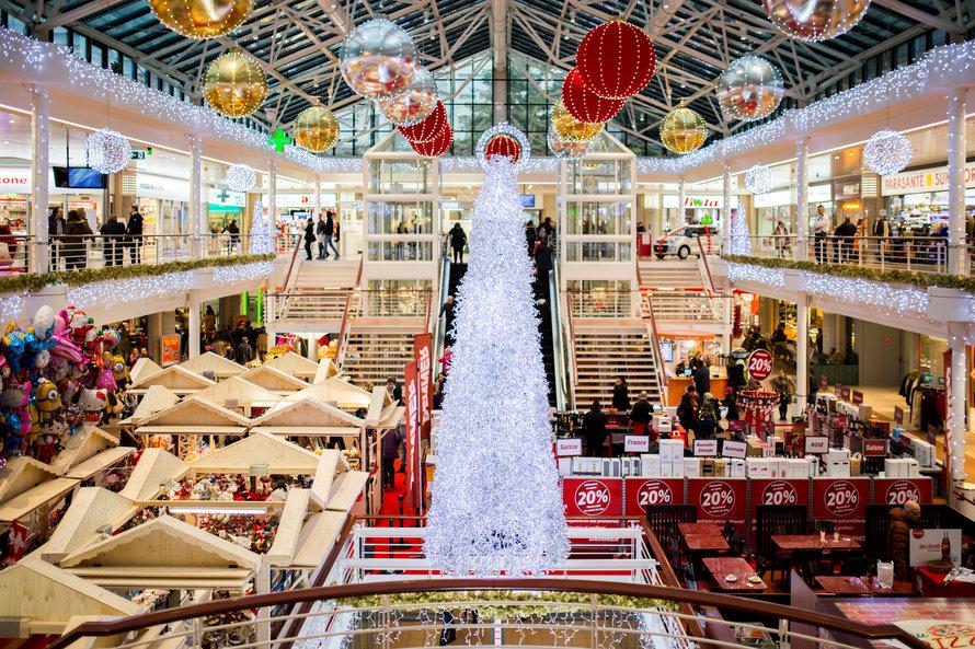 shopping com decorações de natal | Campanha de fim de ano