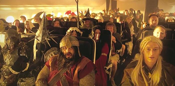 """""""O Hobbit"""" até dentro do avião"""